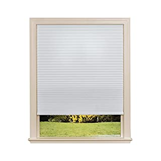 """Easy Lift Trim-at-Home Cordless Cellular Light Filtering Fabric Shade White, 30 in x 64 in, (Fits windows 19""""- 30"""")"""