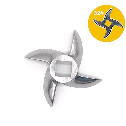 #32 Meat Grinder Blade, Grinder Knife, Electric Mincer Cutting Blade Replacement (32 Electric Meat Grinder)