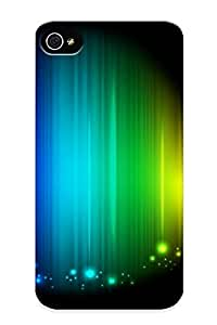 54911aa4374 Premium Abstract Rainbow Back Cover Snap On Case For Iphone 4/4s