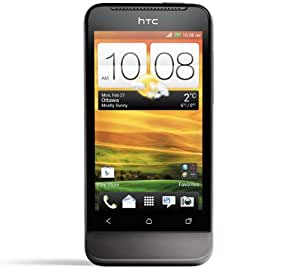 HTC T320e One V Unlocked Android Smartphone with Beats Audio, 5MP Camera, Bluetooth, Wi-Fi, 4GB(capability with external storage), HD Video - Unlocked Phone - No Warranty - Black
