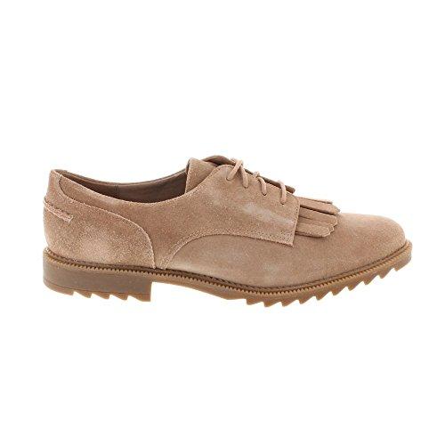 Clarks Elegante Casual Mujer Zapatos Griffin Mabel En Ante Beige Tamaño 39