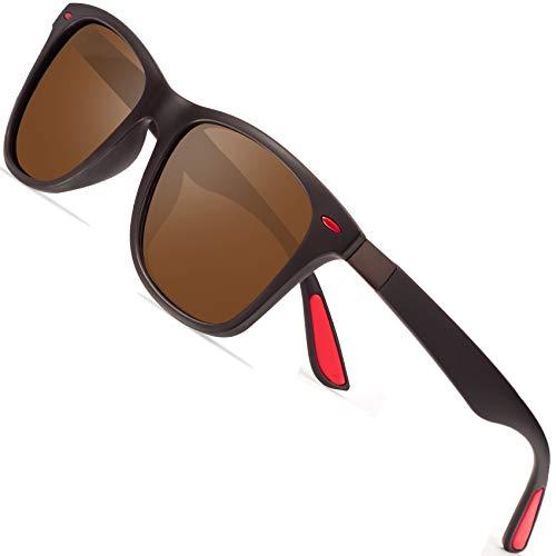 Polarized Sunglasses for Men Retro - FEIDU Polarized Sunglasses for Men Sunglasses Man FD2150 (brown) (Valen Times)