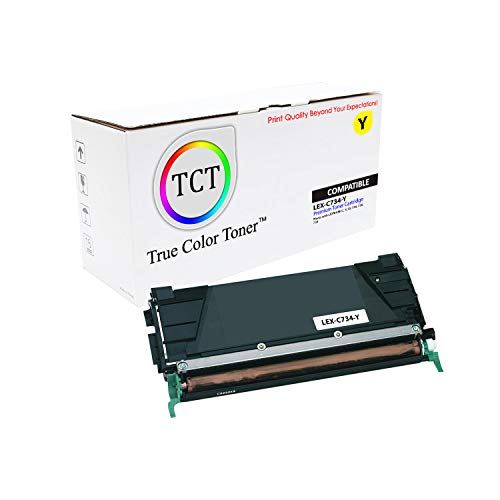 (TCT Premium Compatible Toner Cartridge Replacement for Lexmark C734 C734A1YG Yellow Works with Lexmark C734 C736 C738 X734 X736 Printers (6,000 Pages))