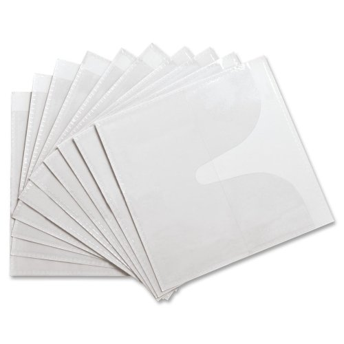 Poly Cd / Dvd Holders (Wholesale CASE of 25 - Compucessory Self-Adhesive Poly CD/DVD Holders-Self-Adhesive CD Holders,Polypropylene,10 Sheets/PK,White)