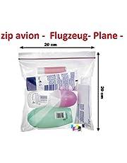 Univers Graphique - Juego de 10 bolsas con cierre de cremallera, 200x200cm, ideal para líquidos en avión y aeropuertos