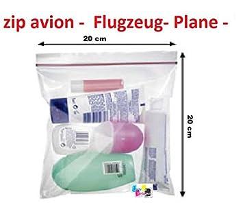 Univers Graphique - Juego de 10 bolsas con cierre de cremallera, 200 x 200 cm, ideal para líquidos en avión y aeropuertos: Amazon.es: Oficina y papelería