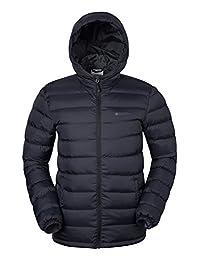 Mountain Warehouse Season Mens Winter Jacket -Water Resistant Raincoat Black X-Large