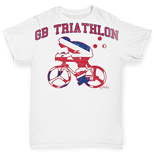 TWISTED ENVY Infant Baby Tshirts GB Triathlon White 12-18 Months (Gb Triathlon)