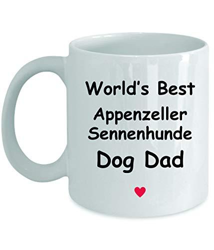 Gift For Appenzeller Sennenhunde Dog Dad - World's Best - Fun Novelty Gift Idea Coffee Tea Cup Funny Presents Birthday Christmas Anniversary Thank You Appreciation 11oz White Mug 1
