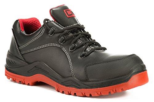 Black Hammer Safety Waterproof Steel Toe Shoes Men Work Sneakers Lightweight Industrial & Construction Shoe 7007 (10 D(M) US) ()