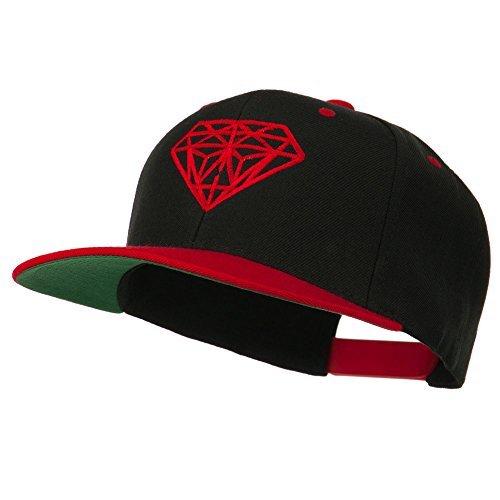 Diamond Snapback Two Tone Hat