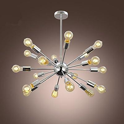 Aero Snail Chrome Industrial Large Pendant Hanging Light Ceiling Lamp Chandelier Fixture