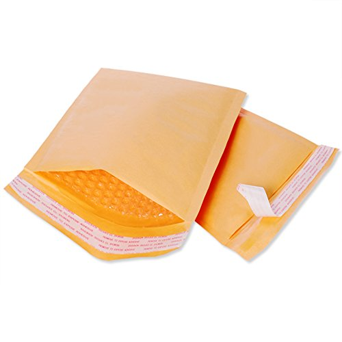 Fu Global 8.5x12 Inches Kraft Bubble Mailers Padded Envelopes #2 Pack of 25 (25 Padded Envelopes)