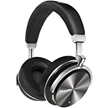 Bluedio T4 (Turbine) Active Noise Cancelling Bluetooth Headphones with Mic Over-ear Swiveling Wired and Wireless headphones Headset for Cell Phone/TV/PC bass fashion (Black)