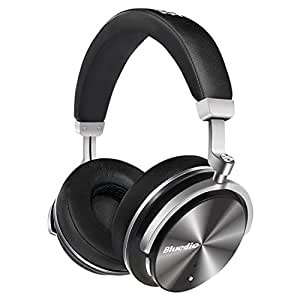 Bluedio T4 (Turbine) Active Noise Cancelling Over-ear Swiveling Wireless Bluetooth Headphones with Mic (Black)