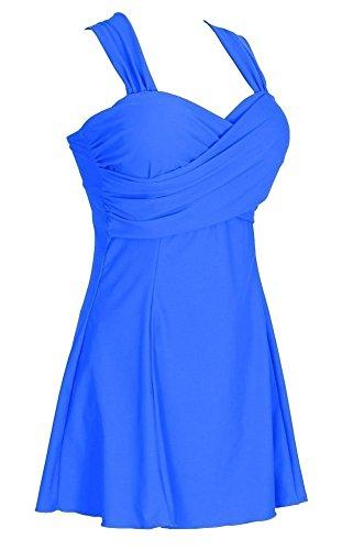 Pezzo Bagno Blu Up Size Push Da Del Un Elegante Da Costume Swimdress Plus Donne DELEY Beachwear Bagno Costumi gCWwtqTz00
