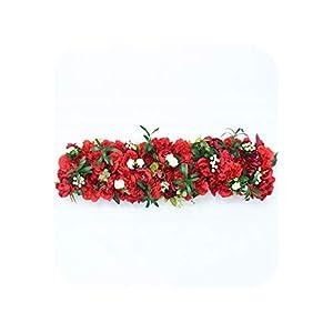 1m Backdrop Wedding Decor Artificial Flower Arrangement Supplies Decor for Wedding Iron Arch Hotel Party Road Lead Flowers Wall,01 8