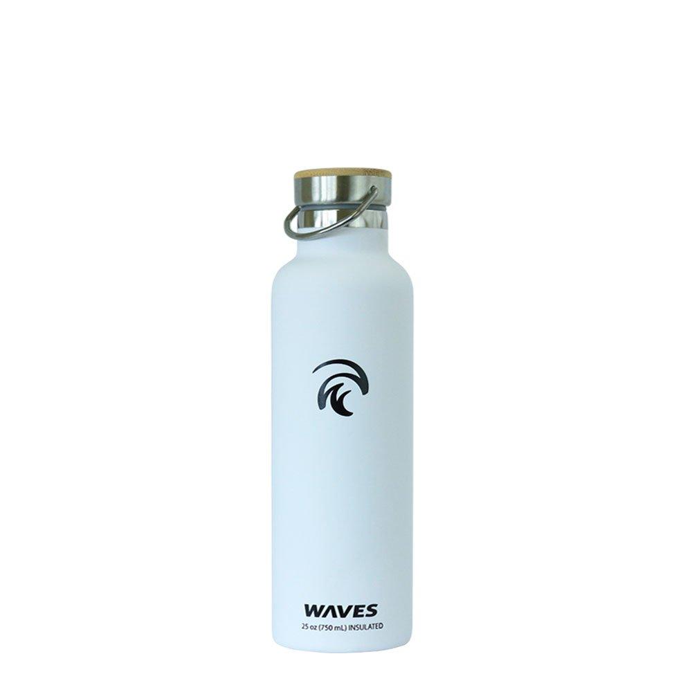 Wellen Gear Dual Scheibe Edelstahl isoliert Wasser Flasche, 24 Stunden kalt, 12 Stunden heiß, 1 Liter, 34 oz Kapazität mit Bambus Gap