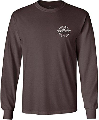 Joe's USA Koloa Long Sleeve Thruster Logo Heavy Cotton T-Shirts. Regular, Big & Tall
