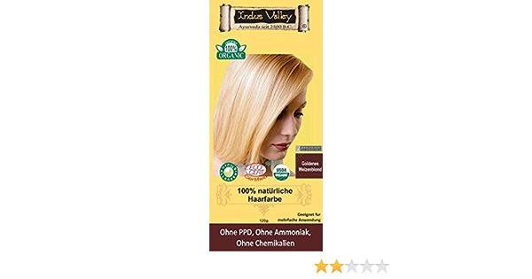 IndoNatura Indus Valley - Tinte para el cabello 100% natural, rubio de trigo