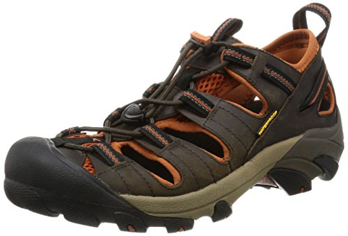 KEEN Men's Arroyo II Hiking Sandal,Black Olive/Bombay Brown,8.5 M US Image
