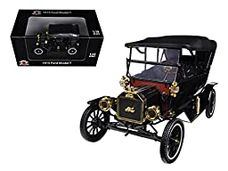 1915 Ford Model T Touring Soft Top Black 1/18 Car Model by Motorcity Classics