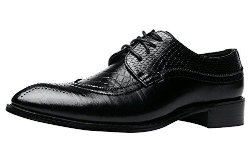 Herren Oxford Derby Schuhe Schnürhalbschuhe Trachtenmoden Haferlschuh Brogue Modische Schuh Männer Schwarz Rot Braun Schwarz