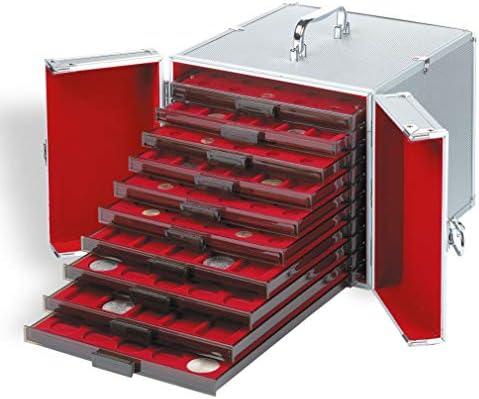 Leuchtturm 309030 Maletín de Aluminio Cargo MB 10, para 10 bandejas de Monedas
