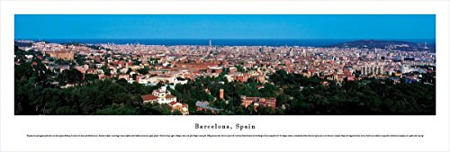Barcelona, Spain - Blakeway Panoramas Unframed Skyline Posters by Blakeway Worldwide Panoramas