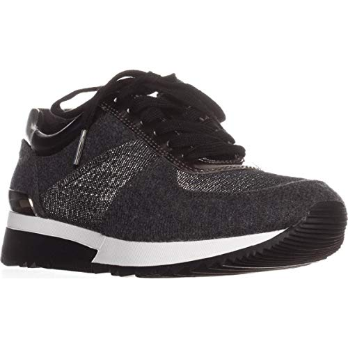 MICHAEL Michael Kors Women's Allie Trainer Sneakers, Charcoal, 10 B(M) US
