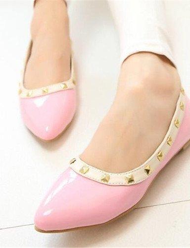 mujeres PDX negro plano 5 blanco señaló cn38 5 zapatos rosa uk5 las Flats vestido Toe us7 eu38 pink de talón Xqrntrwv
