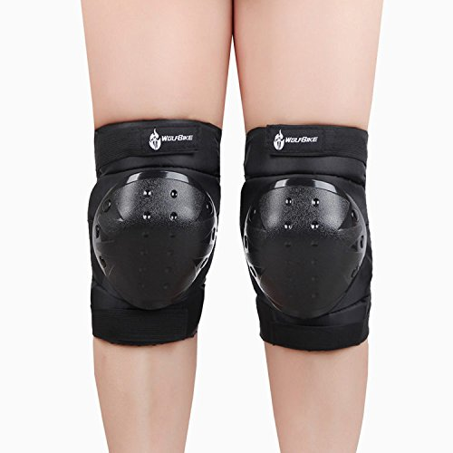 ANZOME Bike Knee Pads and Elbow Pads with Wrist Guards Protective Gear Set for Biking, Riding, Cycling and Multi Sports Safety Protection, Scooter, Skateboard, Bicycle, inline skatings by ANZOME