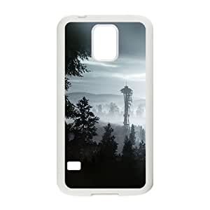 Samsung Galaxy S5 Cell Phone Case White ac73 seattle view day mountain OJ476719