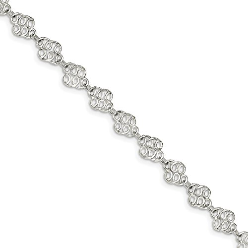 ICE CARATS 925 Sterling Silver 10 Inch Anklet Ankle Beach Chain Bracelet Fine Jewelry Ideal Gifts For Women Gift Set From Heart