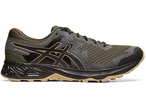 ASICS Men's Gel-Sonoma 4 Trail Running Shoes, 12M, Olive Canvas/Black