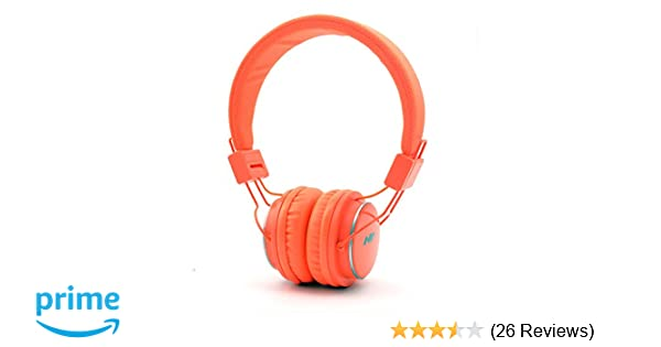 Amazon.com: Granvela Q8 Foldable Bluetooth Headphone, Orange ...