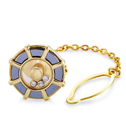 Chopard(Est) Chopard Happy Diamonds 18K Yellow Gold Diamond Tie Pin