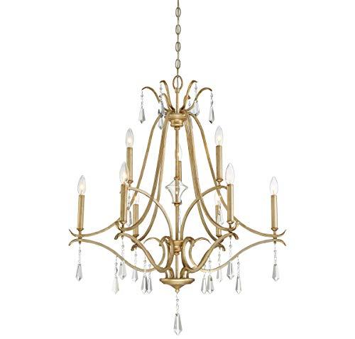 (Minka Lavery Chandelier Lighting 4449-582 Laurel Estate, 9-Light 540 Watts, Brio Gold)