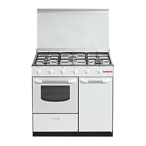 Corbero CC5GB90W Independiente Gas hob Color blanco - Cocina (Independiente, Color blanco, Giratorio, Parte superior delantera, Gas hob, esmalte de acero)