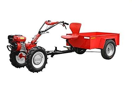 HECHT 7100 Juego completo de dos rueda Tractor con remolque Arados hierro ruedas Rotovator