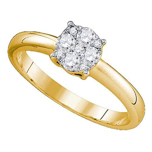 (18k Yellow Gold Diamond Engagement Ring + Wedding Band Bridal Set 3/4 ct )