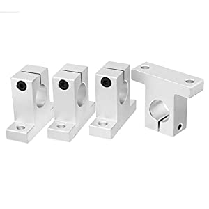 uxcell Aluminum Linear Motion Rail Clamping Guide Shaft Support by uxcell