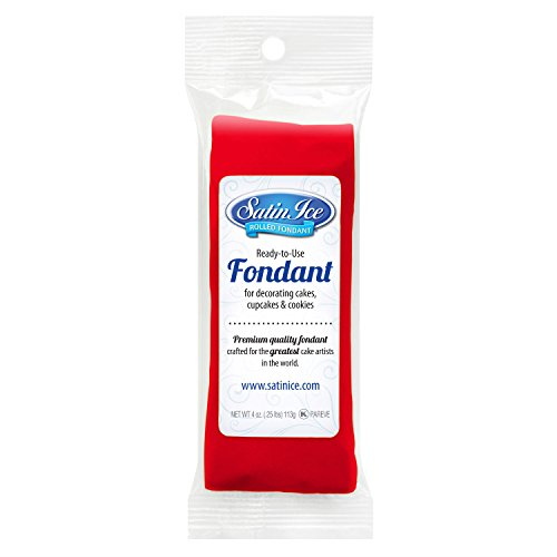 Satin Ice Rolled Fondant (Satin Ice Rolled Fondant Icing Red 4 Ounces)