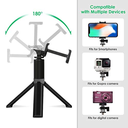 Selfie Stick Tripod, Leelbox Bluetooth Selfie Stick with Tripod and Detachable Wireless Remote, Extendable Monopod Stand Holder Universal for Digital Camera and Android iOS Mobile Smart Phone by Leelbox (Image #3)