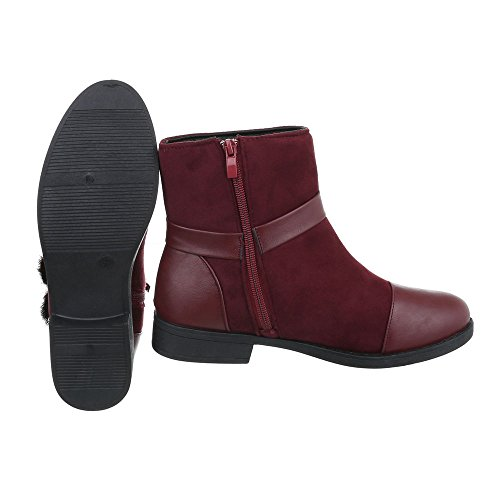 et Bottines Bloc bottines Bottes femme Design Chaussures Ital classiques Bourgogne wC7qBUEf