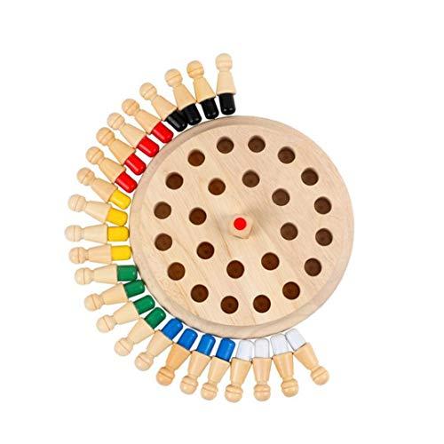Juguete Junta de mesa clásicos de memoria partida de ajedrez de madera de juguete Juego de mesa para niños ideal para…