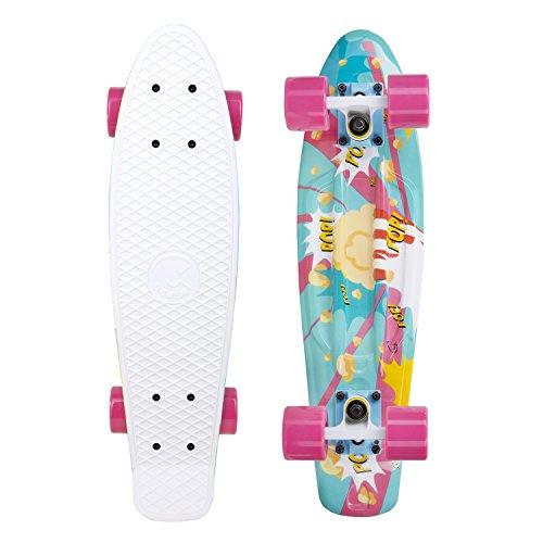 Pop Art Skateboard Deck (Cal 7 Snack Attack 22 Inch Complete Mini Cruiser Standard Skateboard (Popcorn))