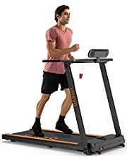 UREVO Treadmills for Home, Max 3.0 HP Folding Treadmills for Running and Walking Jogging Exercise with 12 Preset Programs, Tracking Pulse, Calories