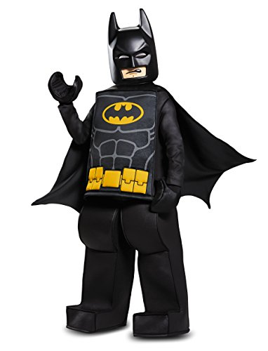 Disguise Batman LEGO Movie Prestige Costume, Black, Medium (7-8) (Lego Halloween Costumes)
