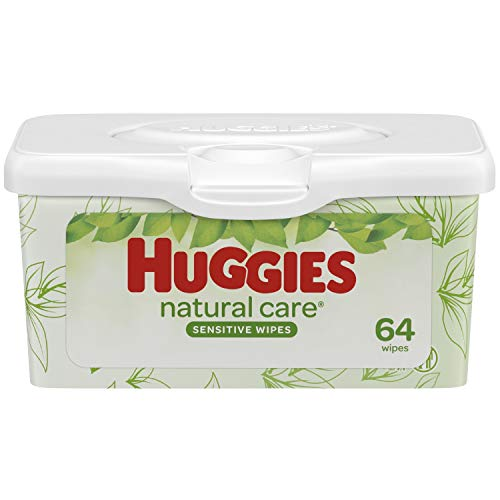 Huggies Natural Care Fragrance Free Baby Wipes Tub, 64 ct by Huggies
